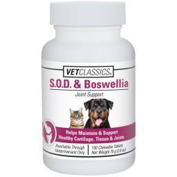 S.O.D. and Boswellia for Dogs and Cats Vet Classics - 150 Tablets