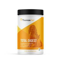 Total Digest Enzyme and Digestive Health Supplement Powder for Dogs and Cats