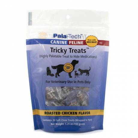 Tricky Treats for Dogs and Cats - Hide a Pill - Roasted Chicken Flavor, 30ct with Mos Max