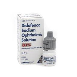 Diclofenac Eye Drops for Dogs and Cats - 0.1%, 2.5mL Dropper Bottle