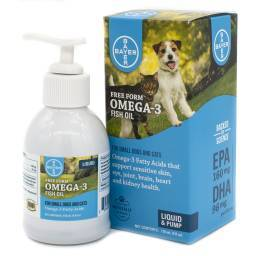 Free Form Omega-3 Liquid for Dogs and Cats Fatty Acid Fish Oil