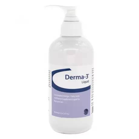 Derma-3 - Liquid Pump, 8oz Bottle for All Sizes of Dogs and Cats