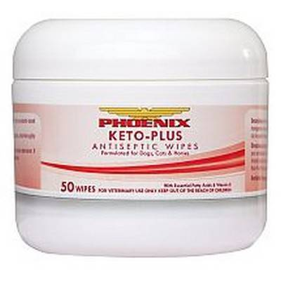 Keto-Plus Antiseptic Wipes for Dogs and Cats