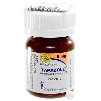 Tapazole (methimazole) for hyperthyroidism in cats