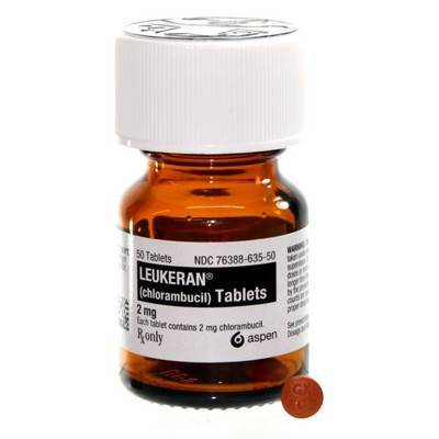 Leukeran (chlorambucil) treatment of cancer in dogs