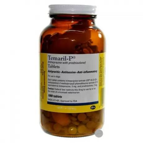 Temaril-P (trimeprazine with prednisolone) for itch relief in pets