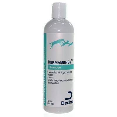 DermaBenSs Soapless Shampoo for dogs and cats is a gentle, pH balanced shampoo, containing Benzoyl Peroxide, sulfur, and salicylic acid.