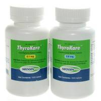 ThyroKare levothyroxine tablets for hypothyroidism in dogs