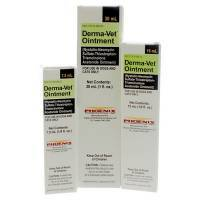 Derma-Vet Ointment  (Nystatin, Neomycin Sulfate, Thiostrepton and Triamcinolone Acetonide Ointment - Rx) for topical use in Dogs and Cats.