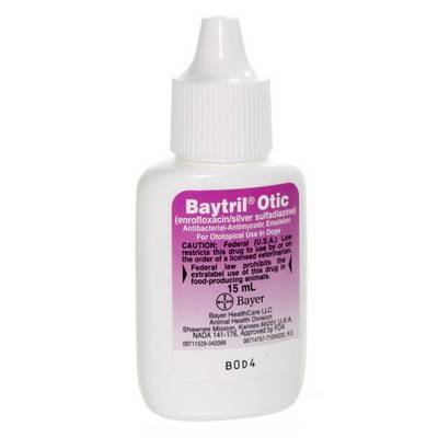 baytril otic for dogs instructions