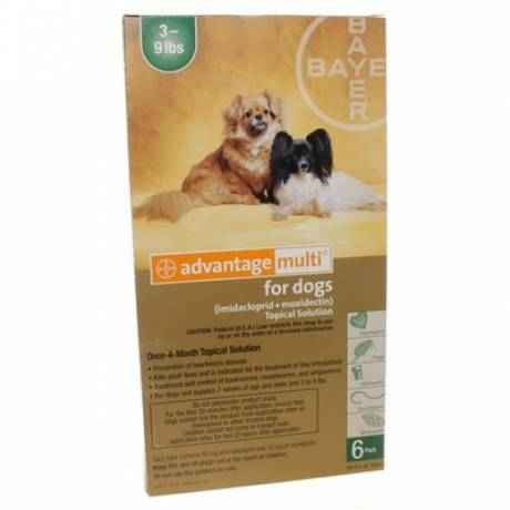 Advantage Multi for Dogs 3-9 lbs, 6 Doses