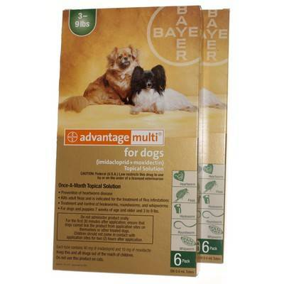 Advantage Multi for Dogs 3-9 lbs, 12 Doses