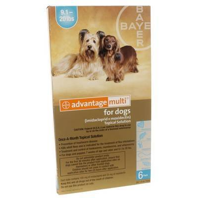 Advantage Multi for Dogs 9-20 lbs, 6 Doses