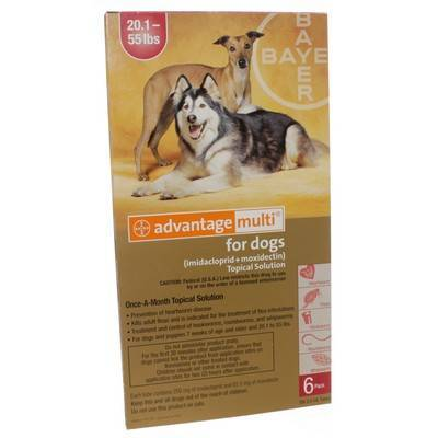 Advantage Multi for Dogs 20.1-55 lbs, 6 Doses