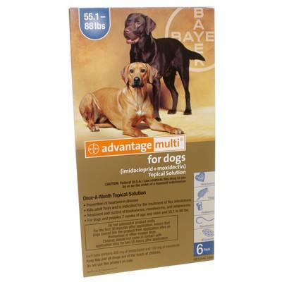 Advantage Multi for Dogs 55.1-88 lbs, 6 Doses