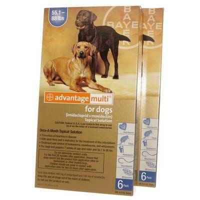Advantage Multi for Dogs 55.1-88 lbs, 12 Doses