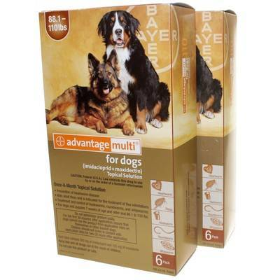 Advantage Multi for Dogs 88.1-110 lbs, 12 Doses