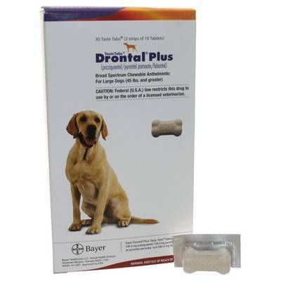 Drontal Plus Taste Tabs for Dogs Dewormer 136mg