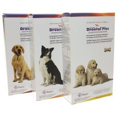 Drontal Plus for Dogs Taste Tab Dewormer