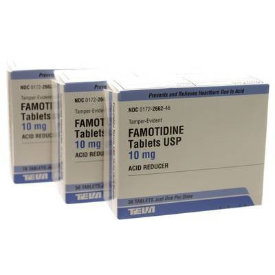 Famotidine is used in dogs and cats to reduce the amount of stomach acid produced, and to treat and protect against gastric ulcers.