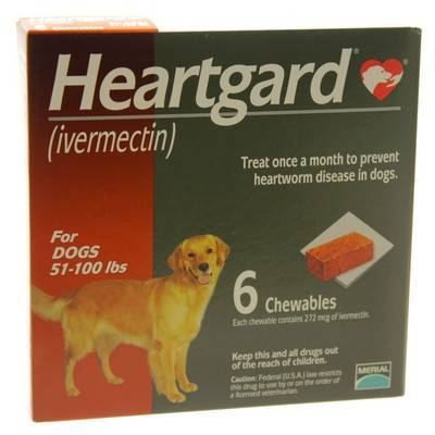 Heartgard For Dogs 51 To 100lbs 6 Chewables