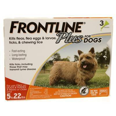 Frontline Plus for Dogs 5 to 22lbs 3 Doses