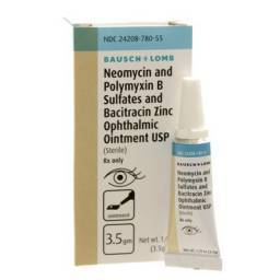 B.N.P. Triple Antibiotic Ophthalmic Ointment for Pets.  Neomycin and Polymyxin B Sulfates and Bacitracin Zinc Eye Ointment for infections of the eye in dogs and cats.