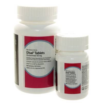 Disal (furosemide) Tablets is a Diuretic-Saluretic for Prompt Relief of Edema in Dogs