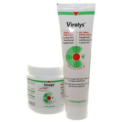 Viralys (L-Lysine) Gel and Powder for Herpes in Cats