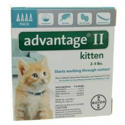 Advantage II for Kittens 2-5lbs 4 Month Supply