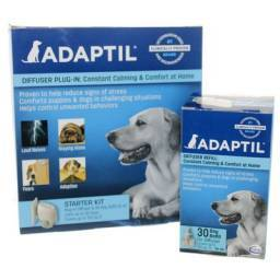 Adaptil diffusers for dog behaviors at home