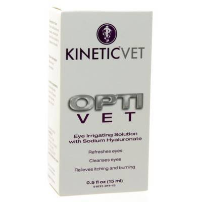 Opti Vet Eye irrigation solution with sodium hyaluronate for pets