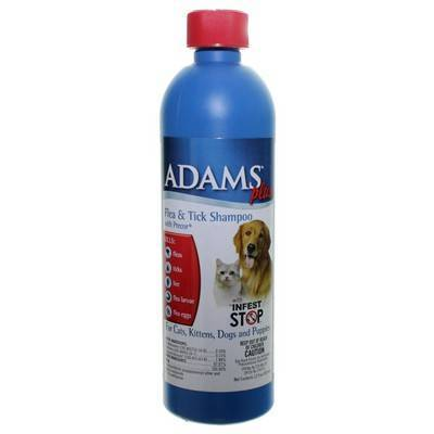 Adams flea and insecticide shampoo for pets