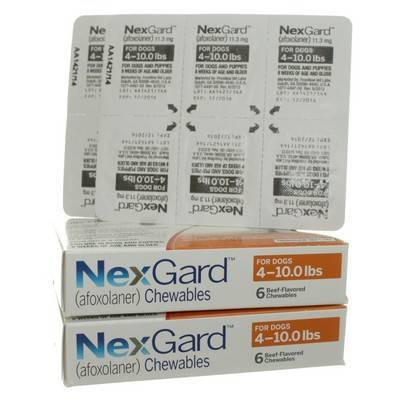 NexGard for Dogs 4 to 10lbs 12 Chewables