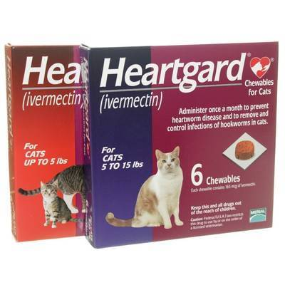 Heartgard (ivermectin) Chewables for use in cats to prevent feline heartworm disease.
