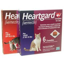 Heartgard Chewables for Cats (ivermectin) feline heartworm disease.