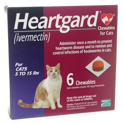 Heartgard Chewables For Cats Ivermectin Feline Heartworm Disease