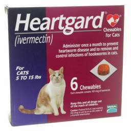 Heartgard for Cats 5 to 15lbs, 6 Chewables