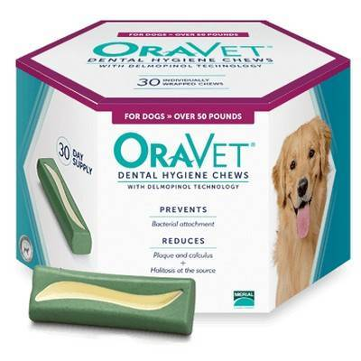 OraVet Dental Hygiene Chews for Dogs Over 50lbs 30ct