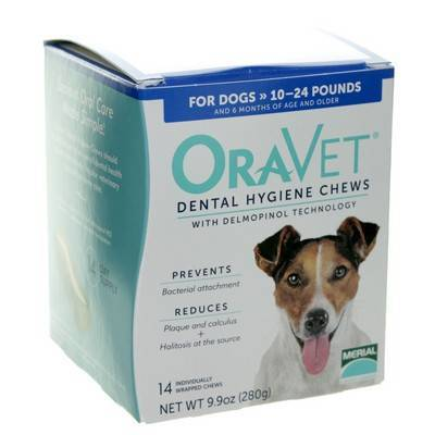 OraVet Dental Hygiene Chews for Dogs 10 to 24lbs 14ct