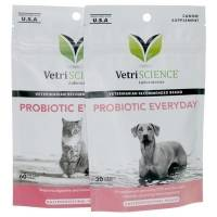 VetriScience Probiotic Everyday Bite-Sized Chews for Pets