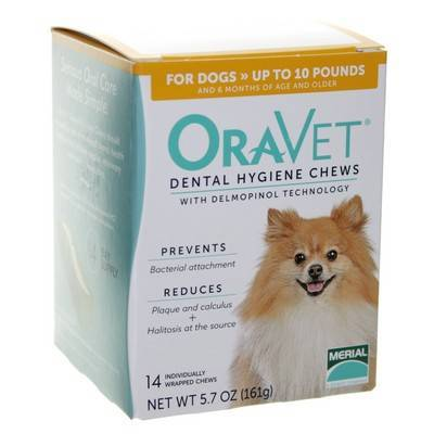 OraVet Dental Hygiene Chews for Dogs up to 10lbs 14ct