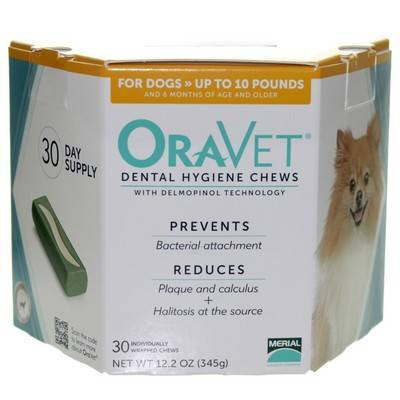 OraVet Dental Hygiene Chews for Dogs up to 10lbs 30ct