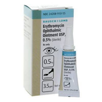 Erythromycin uses