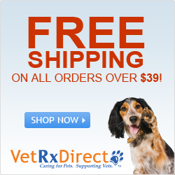 Enjoy free shipping on all pet medication orders of $39 and up at VetRx Direct.