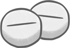 Rx tablets illustration